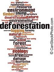 삼림 파괴, 구름, 낱말