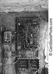 상자, 늙은, rusty, eletrical