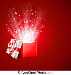 상자, 마술, 선물