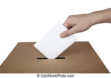 상자, 선택, 선거, 투표, 정치, 투표, 투표