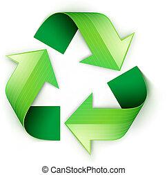 상징, 재활용, 녹색