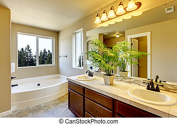 새로운, 샤워, 욕실, bath., 가정