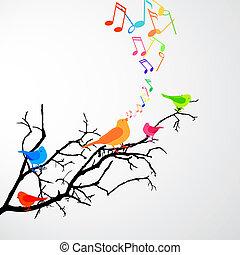 새, 노래하는