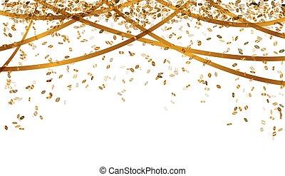색종이 조각, 눈이 듯한, 금