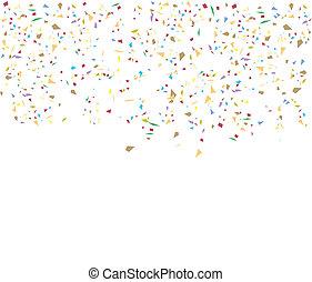 색종이 조각, 생일, 배경