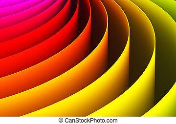 색, 떼어내다, 커브, 모양, 배경, 3차원