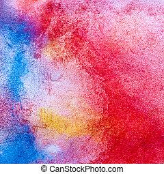 색, 모듬 명령, 직물, 스트로크, 솔, 수채화 물감