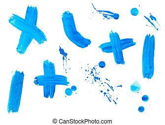 색, 스트로크, 내리다, 액체, 페인트