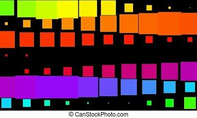 색, 펄스, 패턴, 사각형