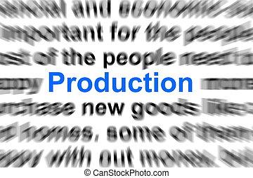 생산, 개념