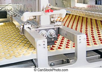 생산, 쿠키, 공장