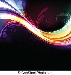 생생한, 떼어내다, 다채로운, 밝은, 벡터, 배경