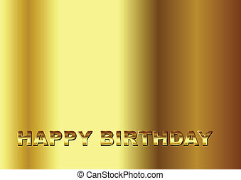생일, 금, 행복하다