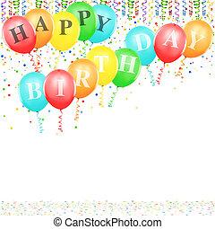 생일, 기구, 행복하다