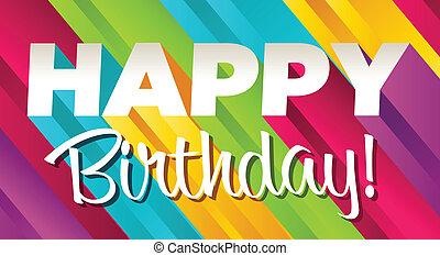 생일, 다채로운, 행복하다