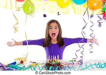 생일, 아시아 사람 아이, 파티를 좋아하는 여자, 아이
