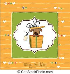 생일 카드, 혼자서 젓는 길쭉한 보트, 개