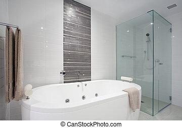 샤워, 통, 목욕
