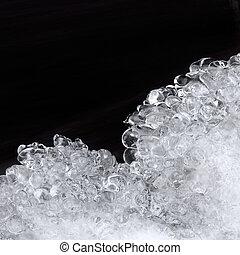 서리로 덥는, 얼음