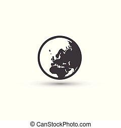 서명해라., 상징., 행성 지구, 세계, icon.