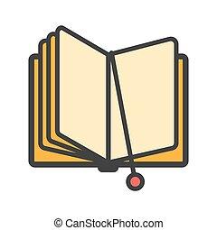 서표, 책, 열려라, 아이콘