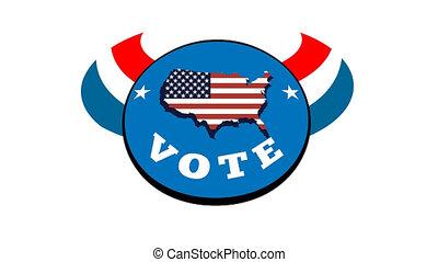 선거, 손, 미국 영어, 투표