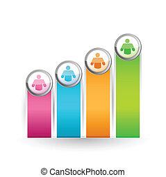 선도, 색, 그래프, 삽화, 디자인, 아이콘
