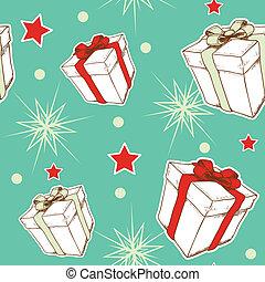 선물, 패턴, seamless, 크리스마스