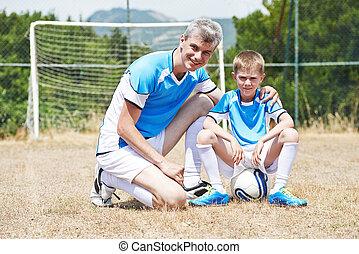 선수, 축구, 가족