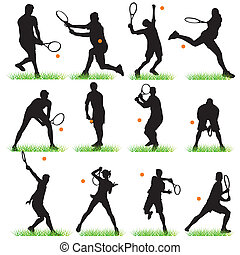 선수, 12, 테니스, 세트