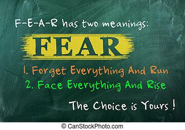 선택, 개념, 공포