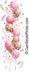 선, 휴일, 핑크, 기구