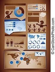 성분, 디자인, infographics