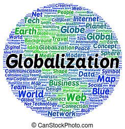 세계화, 낱말, 모양, 구름