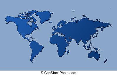 세계, 가위로 자름, 지도, 좁은 길