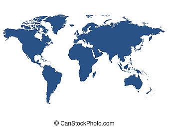 세계, 고립된, 지도