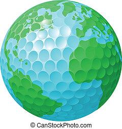 세계 지구, 개념, 골프 공