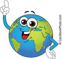 세계 지구, 만화