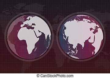 세계 지구, 지도, 직물, 지구
