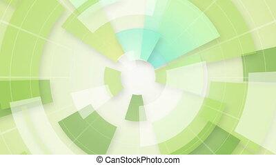 세그먼트, 녹색, 고리, 배경, 안내장