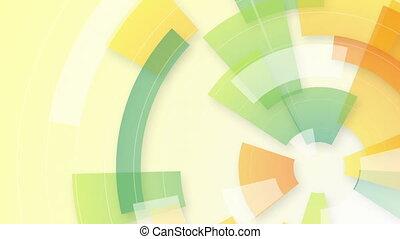 세그먼트, 다채로운, 고리, 배경, 안내장