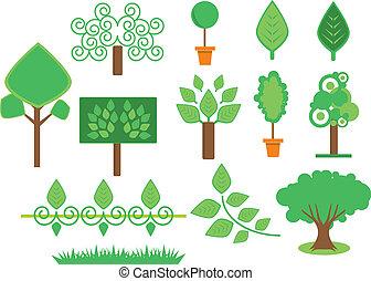 세트, 나무, 식물