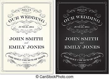 세트, 늙은, 구조, 벡터, 형성된다, 결혼식