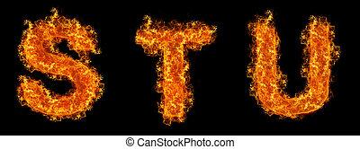 세트, 불, s, u, t, 편지