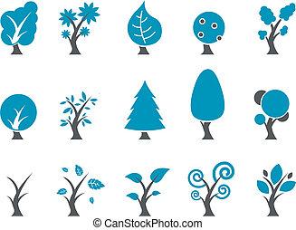 세트, 아이콘, 나무