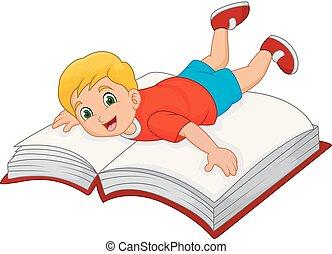 소년, 거의, 책, 만화, 크게