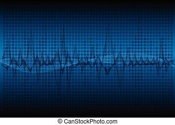 소리, 떼어내다, 전류를 고주파로 변환시키는, 빛, 파도, 기술, backgrou, 백열