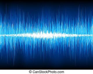 소리, 전류를 고주파로 변환시키는, eps, 파도, 8, black.