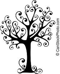 소용돌이, 나무