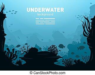 수중 사진, 배경, 삽화